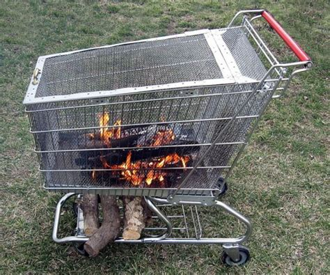 Pit Shopping A Shopping Cart Turned Into A Pit Neatorama