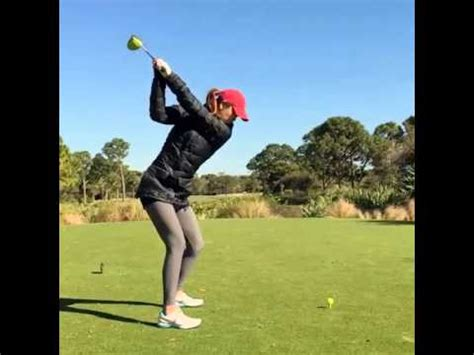 michelle wie driver swing michelle wie one plane driver swing youtube