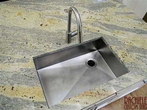 custom stainless steel sinks custom stainless steel sinks mount and workstation