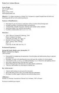 patient care assistant cover letter patient care technician description for resume