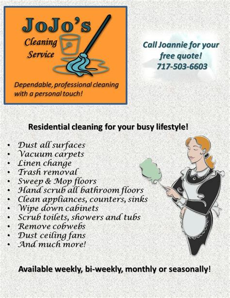 Jojo S Cleaning Service Flyer Cleaning Service Pinterest Flyers Cleaning And Cleaning Cleaning Company Flyer Template