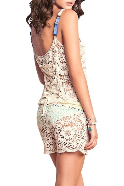 Crochet Cover Up maaji crochet romper cover up from