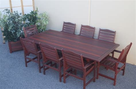 guildford 8 x seater jarrah table with ryecroft chairs