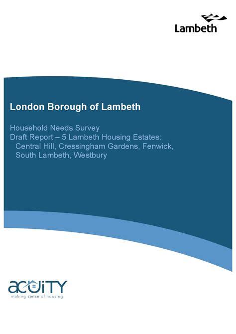 household needs draft household needs surveys westbury estate by catherine