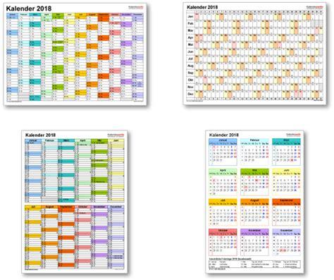 Kalender Sachsen 2018 Kalender 2018 Mit Excel Pdf Word Vorlagen Feiertagen