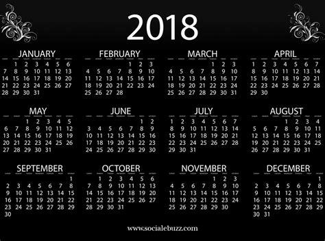 Or 2018 Free 2018 Calendar Template Free Blank 2018 Template Calendar