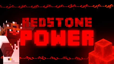redstone l redstone power minecraft