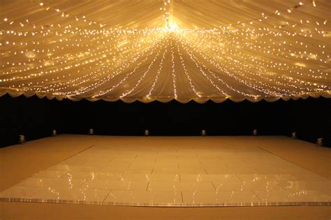 Fairy Lights Unders Sheer Fabric Across Whole Ceiling Light Canopy