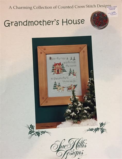 To Grandmother S House We Go Lyrics by Grandmother S House Sue Hillis Designs Counted Cross Stitch Pattern