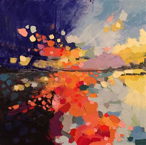 joanna posey abstract landscape on canvas