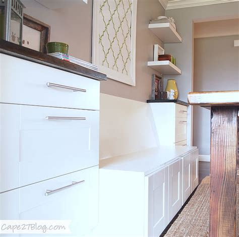 using ikea kitchen cabinets for family room diy banquette popsugar home