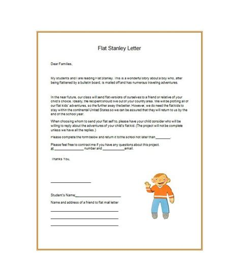 37 flat stanley templates letter exles template lab