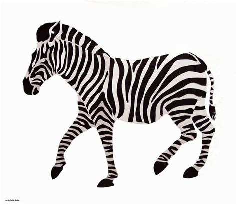 Paper Cut-out Zebra Photograph by Suhas Tavkar
