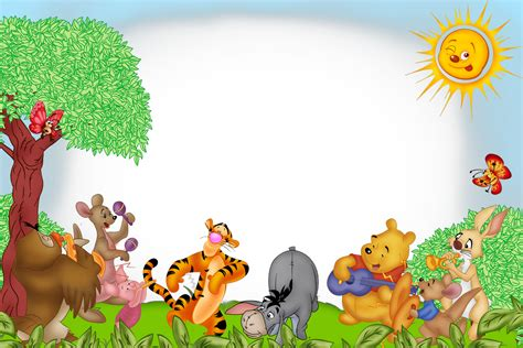 imagenes de winnie the pooh para descargar gratis marcos y bordes para fotografias marcos para fotos de