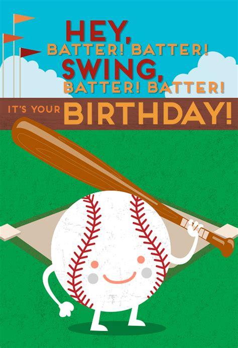 Free Baseball Birthday Cards