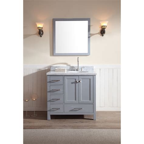 right offset sink vanity ariel cambridge 37 quot single sink vanity set with right