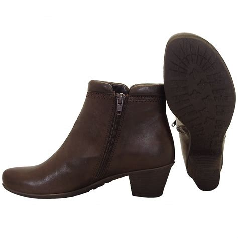 heel boots gabor boots sound low heel ankle boot in brown