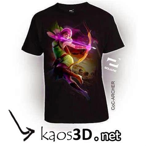 Kaos 3d Square Wolferin kaos 3d square clash of clan coc bandung kaos 3d bandung