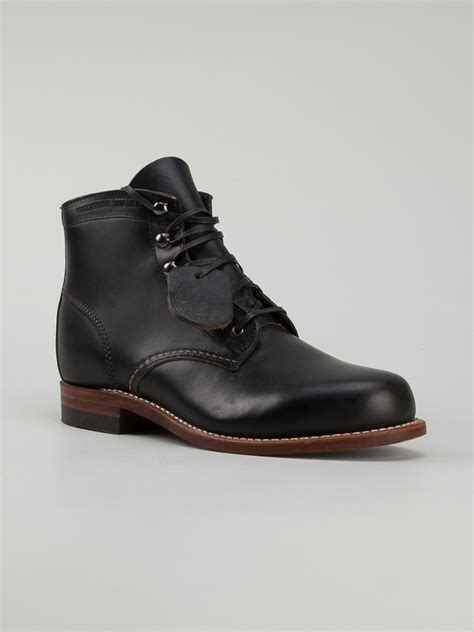 wolverine boots 1000 mile wolverine 1000 mile boot in black lyst