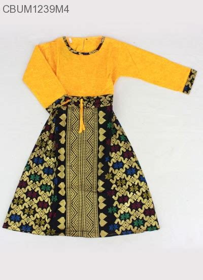 Gamis Anak Songket gamis anak songket size 1 baju muslim anak murah