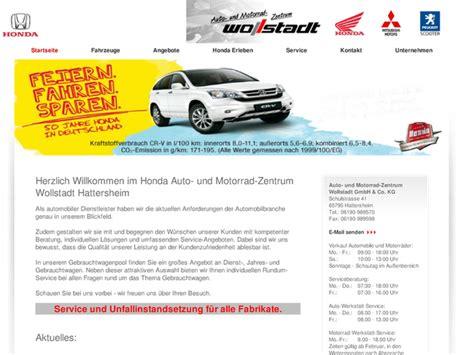 Honda Motorradh Ndler Berlin by Auto Und Motorrad Zentrum Wollstadt Gmbh Co Kg In