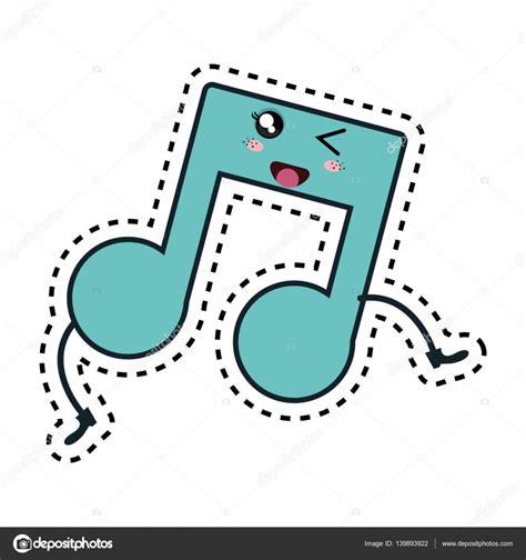 imagenes de notas musicales kawaii car 225 cter de kawaii m 250 sica nota vector de stock