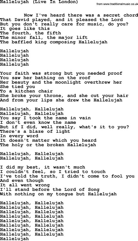 hallelujah leonard cohen testo leonard cohen lyrics hallelujah meaning az lyrics