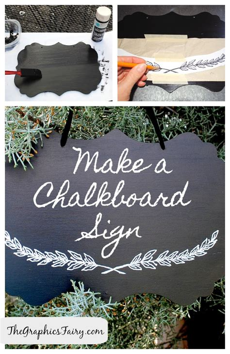 chalk paint diy sign diy tutorial painted chalkboard sign the graphics