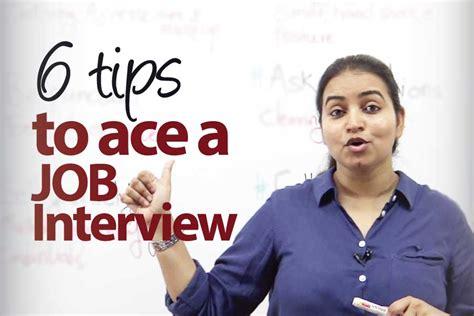 6 tips to ace a job interview learnex free english lessons
