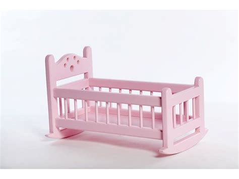 baby rocking bed wooden doll cradle rocking bed for dolls white by