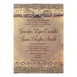 rustic country wedding invitations rustic country vintage burlap wedding invitations zazzle