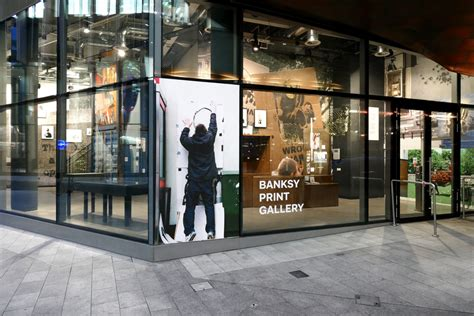 bank shop lazarides launch banksy print gallery in time for