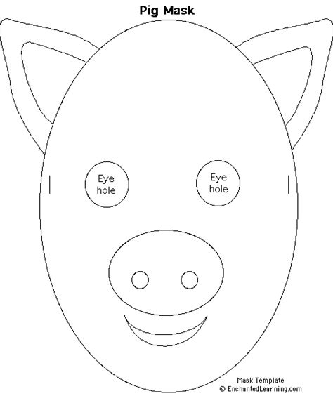 pig mask template make a pig mask enchanted learning software