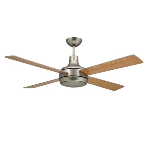 Contemporary Ceiling Fan Light Quantum Ceiling By Troposair Fans Satin Steel Finish With Optional Light Included