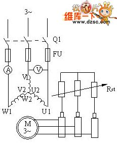 Squirrel Cage Wound Rotor Asynchronous Motor Circuit
