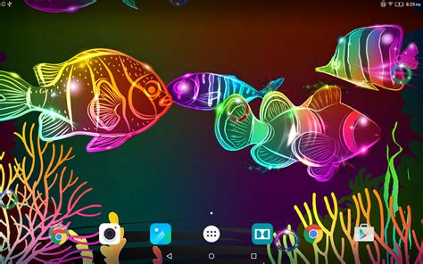 wallpaper colorful fish and interactive water neon fish live wallpaper 1 0 4 apk download android