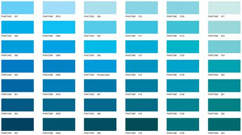 shades of blue chart pantone color chart galaxy business products