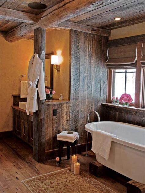 ausgefallene designideen fuer ein landhaus badezimmer