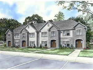 Multiplex House by Laboure European Fourplex Home Plan 055d 0404 House