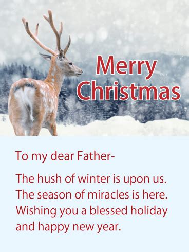 wishing   blessed holiday christmas wishes card  father birthday greeting cards  davia