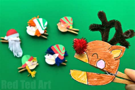 photoshop card templates place faces into reindeer clothespin puppets ted s