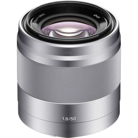 Sony E 50mm F 1 8 Oss Lens Silver sony e 50mm f 1 8 oss lens silver sel50f18 b h photo