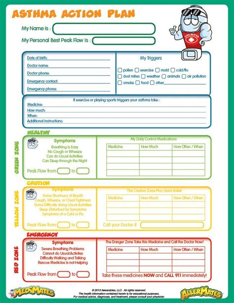 asthma care plan template pin by stapleton on dreaming big