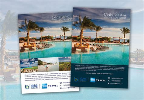 Home Studio Design Layout by Travel Agency Magazine Ads Design