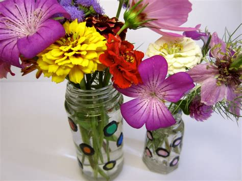 How To Decorate Glass Vases by Decorate Glass Vases With Polka Dots