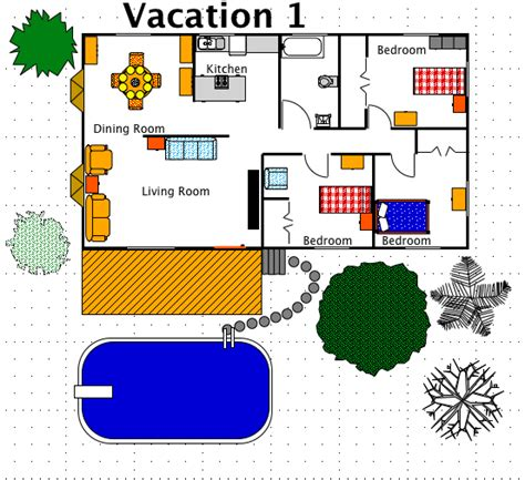 vacation house for free vacation house style a free macdraft floor plan for the mac
