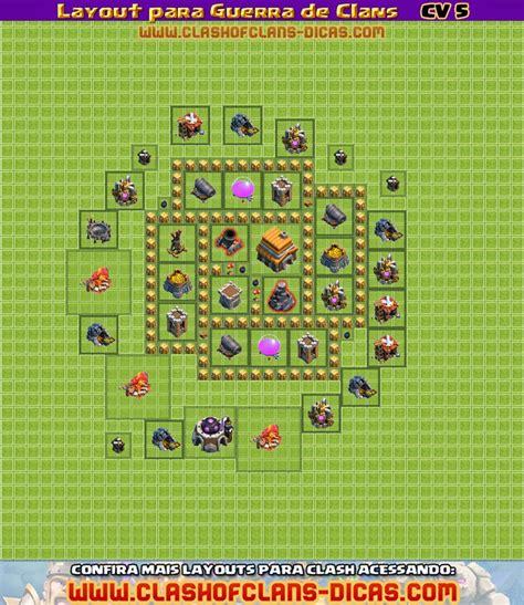 layout cv guerra 6 layouts para guerra de clans cv 5 clash of clans dicas