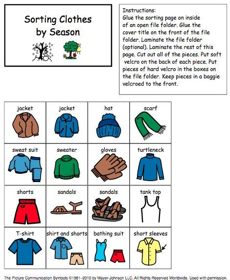 clothes for different seasons worksheet different seasons clothes and seasons on pinterest