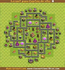 Layouts De Centro De Vila 8 Para Clash Of Clans Clash Of