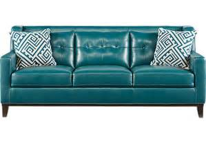 Blue Leather Chair And Ottoman Design Ideas 899 99 Reina Green Leather Sofa Classic Contemporary